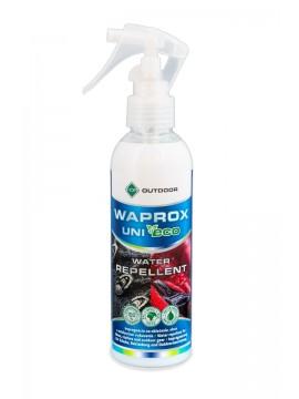 Solutie impermeabilizanta pentru articole de imbracaminte, incaltaminte si echipamente outdoor Waprox Uni Eco For, protectie UV, spray inodor, 200 ml