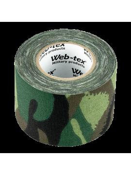 Banda adeziva din material textil Mil-Com, 10 m x 5 cm, camuflaj